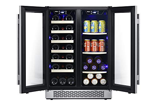Avallon AWBC241GGFD 24 Inch Wide 21 Bottle and 60 Can Capacity Built-In Wine and Beverage Cooler with French Doors by Avallon (Image #6)