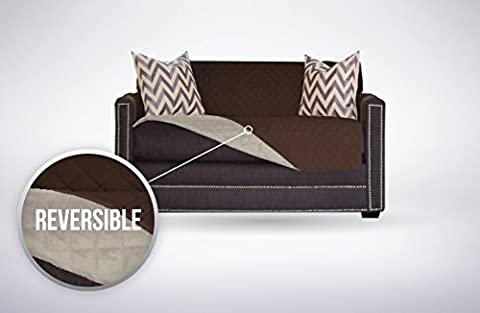 The Original SOFA SHIELD Reversible Furniture Protector, Features Elastic Strap (Chair and a Half: (Sofa Chaise Cover)