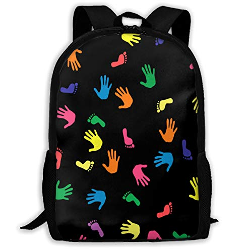 Backpack Lovely Handprint Footprints Amazing for Girl