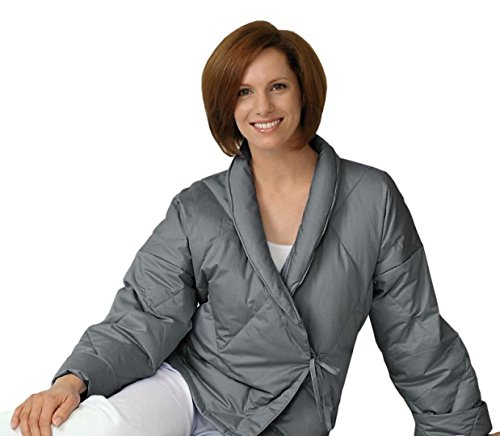 quilted bed jacket - 3