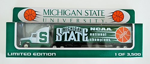 White Rose 2000 COLLEGE Collectible 1:80 Scale Diecast Tractor Trailer MICHIGAN STATE SPARTANS BASKETBALL NCAA NATIONAL ()