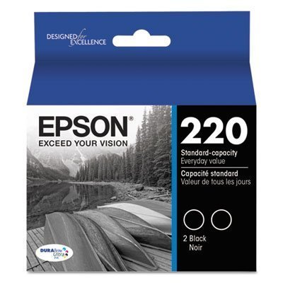 T220120D2 (220) DURABrite Ultra Ink, Black, 2/Pk, Sold as 2 Each from Epson
