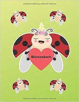 Skizzenbuch Marienkäfer Einhorn Lustiges Einhorn