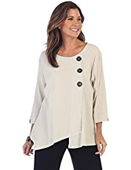 Fashion Focus Focus Textured Point Hem Womens 100% Cotton Tunic In Oatmeal - CG-102-OT