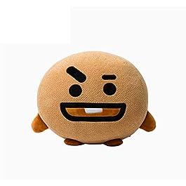 Cute Cartoon Throw Pillow Soft Plush Doll Toys Bulletproof Stuff Pillow Cushion (Brown, S)