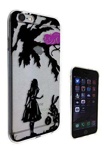 c0116 - Alice in Wonderland cheshire cat and rabbit Design Pour iphone 5C Protecteur Coque Gel Rubber Silicone protection Case Coque