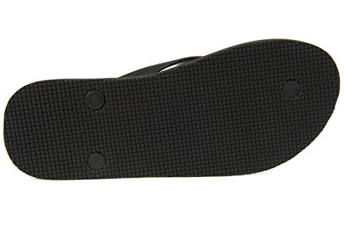 OLLI Men's Flip Flops - Fair Trade Natural Rubber - Beach, Yoga & Fitness Sandals - Eco Friendly & Vegan Black-out Black