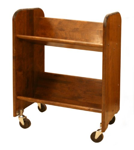 Catskill Craftsmen Bookmaster Rack with Tilted Shelves, Walnut Stained Birch by Catskill Craftsman