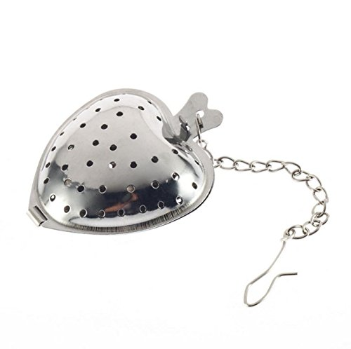Funnytoday365 Heart Shaped Tea Infuser Spoon Strainer Stainless Steel Steeper Handle Shower by FunnyToday365 (Image #2)