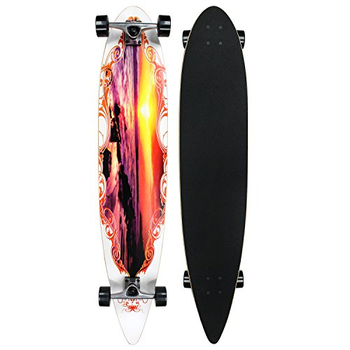 Krown Sunset City Surf Longboard Skateboard
