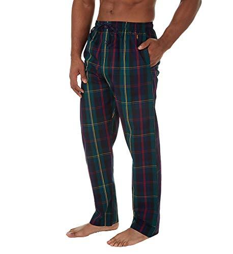 Polo Ralph Lauren 100% Cotton Striped Woven Pajama Pant (P501HR) M/Chester Plaid/Gold