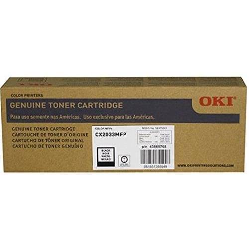 Oki 43865768 OEM Toner - CX2033 Black Toner (8000 Yield) (Type C11) OEM
