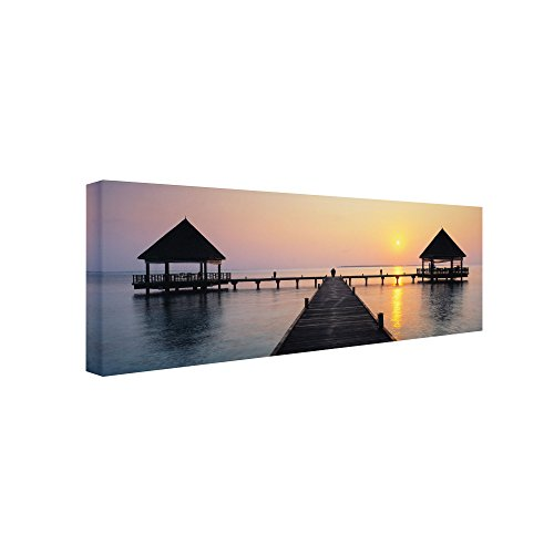 Trademark Fine Art Sunset Hideaway Artwork by David Evans, 16 by 47-Inch