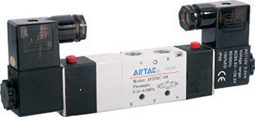 """4V220-08 AC110V Airtac Air Pneumatic Solenoid Valve 2 position 5 way 1//4/"""""""