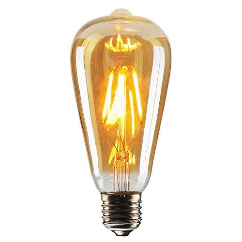 Bulb 60w Light Lamp 1 (Edison LED Bulb, Amber 6W Vintage Edison LED Filament Light Bulb Edison lamp, 2800K Daylight (Warm White), 60W Incandescent Equivalent, E26 Base Lamp for Restaurant,Home,Reading Room,Office Pack of 1)