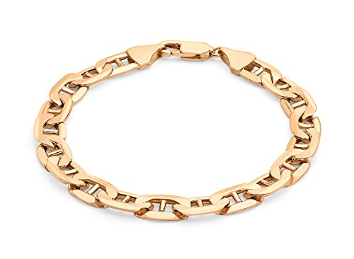 "Carissima doré or Rose 9 carats 200 Rambo Bracelet chaîne de 20 cm/8 """
