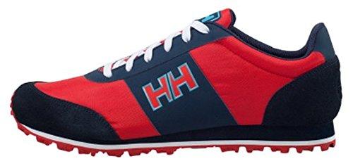 Helly Hansen Raeburn B&b, Zapatillas de Deporte Exterior para Hombre Rojo / Azul (222 Alert Red / Navy / Aqua Ma)