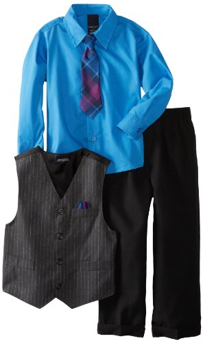 NAUTICA Boys Dress Up Wide Multi Stripe Vest Set