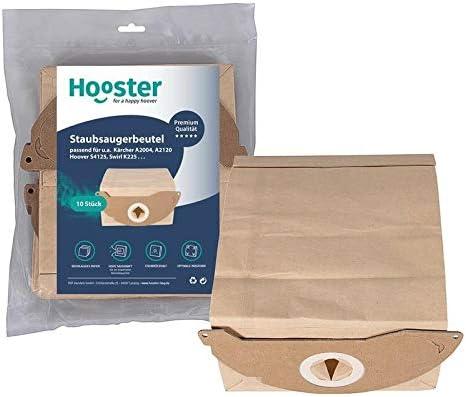 Hooster - 10 bolsas de aspiradora para Kärcher WD 2.200 hasta WD 2.299 / WD2.200 hasta WD2.299 / papel / versión corta: Amazon.es: Hogar
