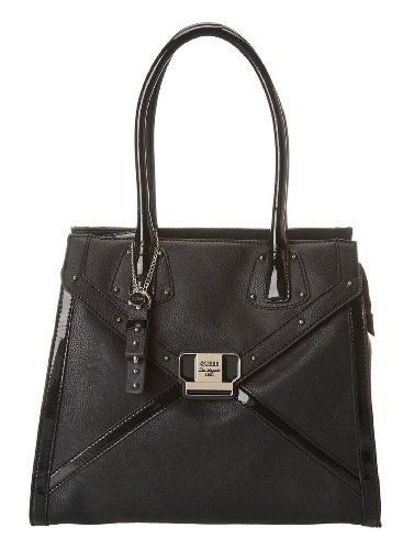 Guess Chleo Large N/s Satchel Bag Black Vg437210-bla