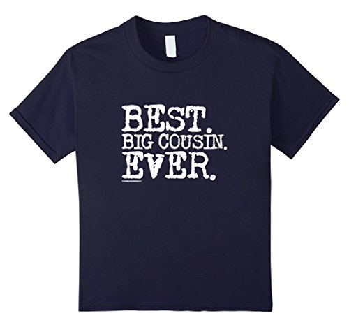 Kids Best Big Cousin Ever T-Shirt 8 Navy