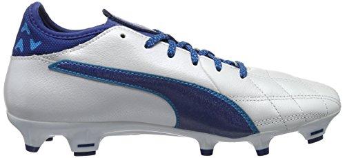 Homme true Chaussures De Football Danube 02 Evotouch Blanc puma Blue White Compétition blue 3 Lth Puma Fg I784qF7