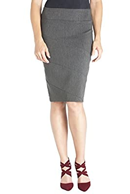 Rekucci Women's Ease In To Comfort Paneled Pencil Skirt