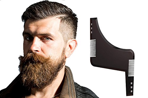 Beard Shaping Comb, Beard Shaper Trimmer for Men, Dynamic Curved and Straight-edged Templates to Style Facial Hair and Beard
