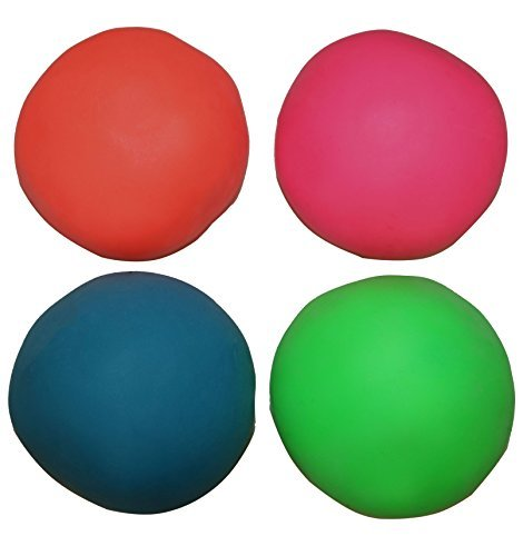 Magic Bounce Ball - Assorted Colors Pull And Stretch Bounce Ball 4 Fun Stress Balls