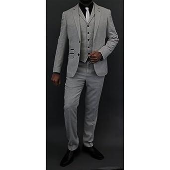 Cavani Hombre Mezcla De Lana 3 Piezas Trajes Tweed Blazers ...