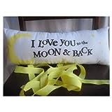 Love you to the moon and back nursery decor lumbar headrest pillow