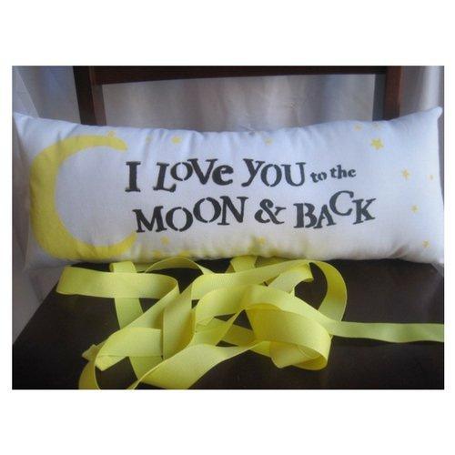 Love you to the moon and back nursery decor lumbar headrest pillow by Heartfeltquotes
