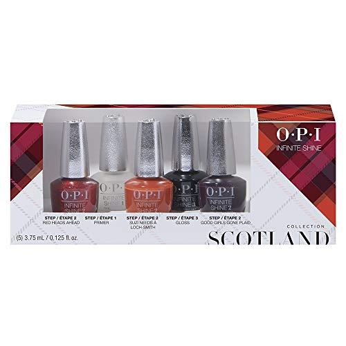 OPI Scotland Collection, Infinite Shine 5 Piece Mini Pack, 0.625 fl. - La Opi Collection
