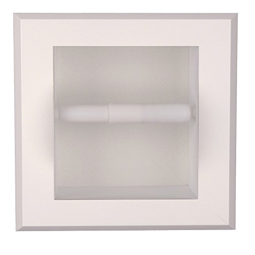 (Florida Breeze Cabinets Contempo in-The Wall Toilet Tissue Holder White Enamel)