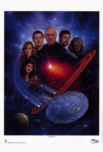 Star Trek The Next Generation Poster TV B 27x40 Patrick Stewart Jonathan Frakes LeVar Burton
