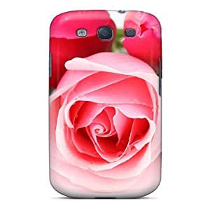 Dana Lindsey Mendez Case Cover For Galaxy S3 - Retailer Packaging Pink Tulips And Rose Protective Case
