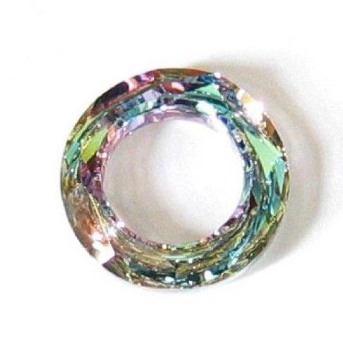 - 1 pc Swarovski Crystal 4139 Round Cosmic Ring Frame Charm Pendant Vitrail Light 20mm / Findings / Crystallized Element