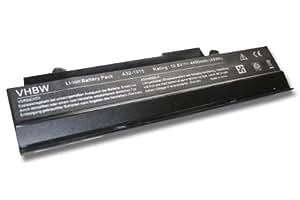 BATERÍA PARA ASUS Eee PC 1011PX, 1015, 1015P; Material Li-Ion, 4400mAh, 10.8V,color negro; Reemplaza baterías A31-1015, AL31-1015, A32-1015, PL32-1015