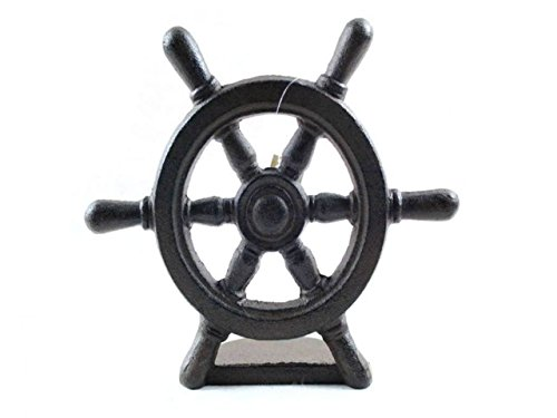 Cheap Cast Iron Ship Wheel Door Stopper 9 inch – Nautical Door Stop –
