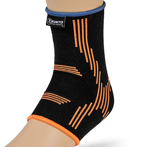 Kunto Fitness Ankle Brace Compression Support Sleeves (Pair) for Injury Recovery, Joint Pain, Swelling, Plantar Fasciitis & Achilles Tendon (Medium) by Kunto Fitness Products (Image #3)