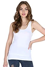 Nikibiki Women's Seamless Regular Wide Strap Tank, One Size