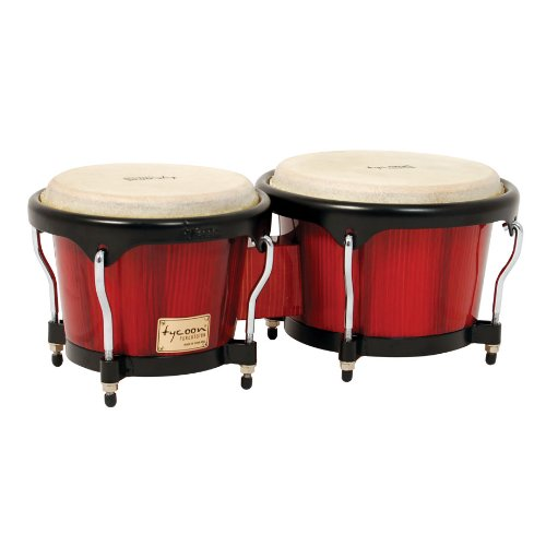 Tycoon Percussion 7 Inch & 8 1/2 Inch Artist Series Hand Painted Bongos - Red Finish