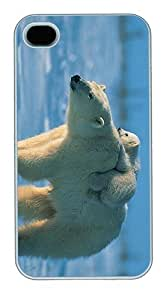 IMARTCASE iPhone 4S Case, Polar Bear And Cub Polycarbonate Back Case for Apple iPhone 4S/5 White