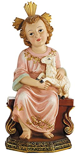 Resin Child Jesus with Lamb Statue Religious Decoration for Home or Church, 8 - Jesus Statue Child