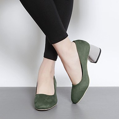 green Army Women's Black LvYuan 2 Brown 4in 3 army Green Casual Slingback Slingback Spring 2in PU ggx Heels 1TnUTf8q