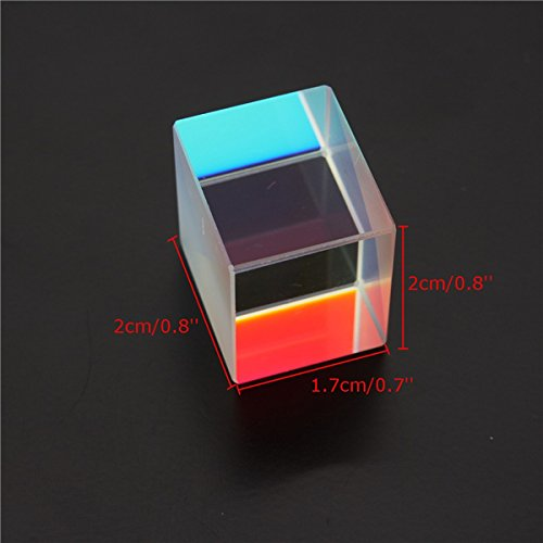 CynKen 1Pcs Optical Glass RGB Dispersion Prism X-CUBE for Physics Teach Decoration Art