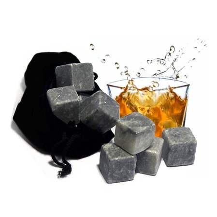 Best Whiskey Stones Gift Set with Magnetic Closure - Uniq...