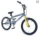 Muddyfox New Boys/Girls Bigfoot Em3Rge 20Inch Single Speed Bmx Bike Grey/Bronze - Grey/Bronz -