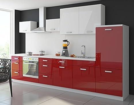 Cucina Color 340 cm cucina riga Blocco cucina da incasso cucina in ...