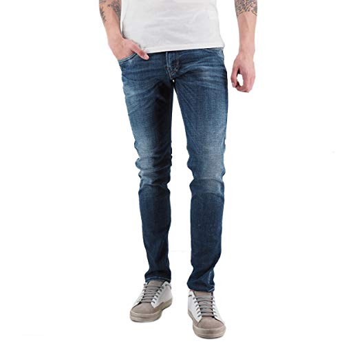Replay | Jeans Slim Fit Anbass Aged 1 Year Blue | M914Y .000.141 431-28